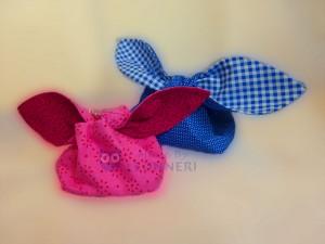 dekorativ und praktisch ... Osterhasensäckchen mit Schlappohren