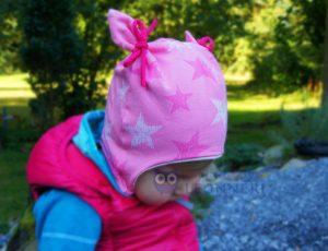 rosa Ohrenmütze