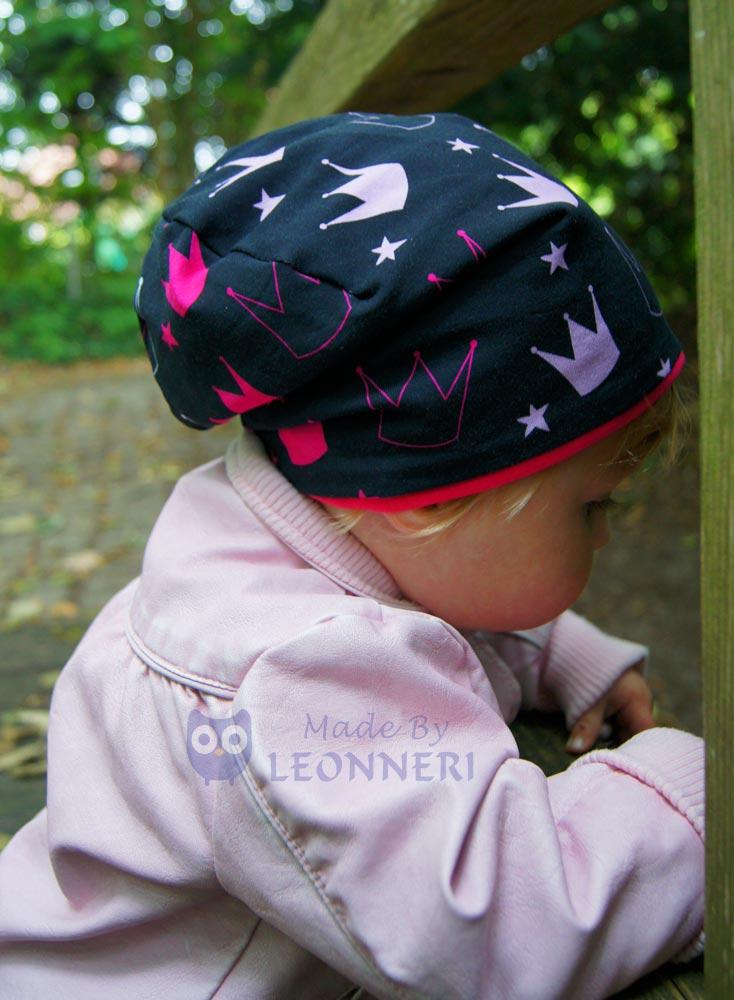 Ein Wendebeanie für kleine Prinzessinnen