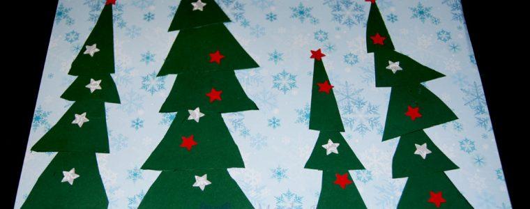 winterlicher weihnachtlicher Tannenwald