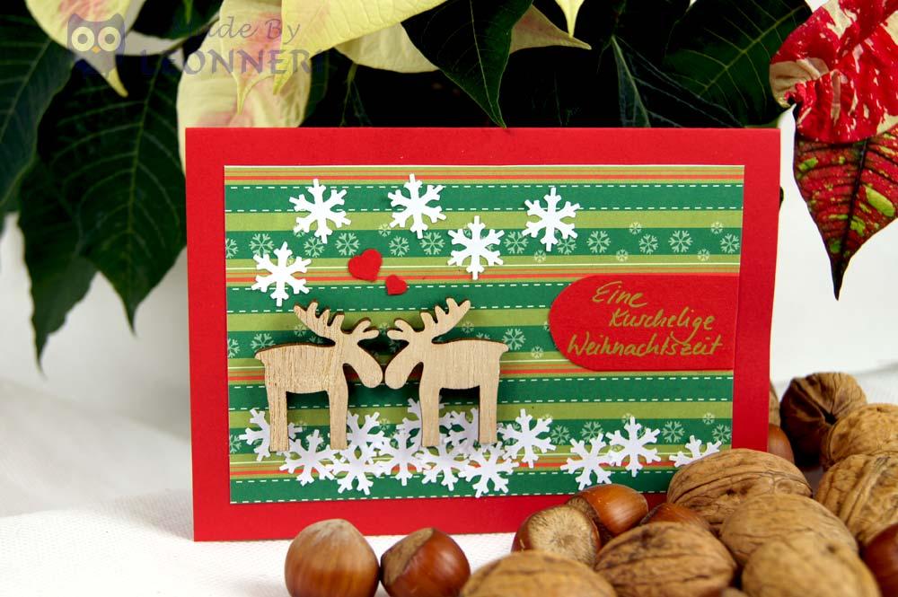 kuschelnde Rentiere für eine kuschelige Weihnachtszeit