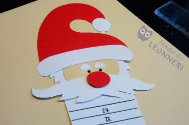 Anleitung: Lustiger Weihnachtsmann-Adventskalender