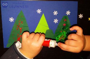 Anleitung: Weihnachtliche Bilder mit Kleinkindern gestalten
